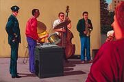 Jazz Quartet v N.Y./Jazz Quartet in N.Y., 1985, olej na plátně/oil on canvas, 61x92cm