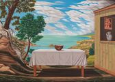 Stůl v krajině/Table in the Landscape, 2002-2003, olej na plátně/oil on canvas, 100x140cm