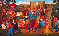 Velká slavnost/Great Celebration, 1987, olej na plátně/oil on canvas, 152x244cm